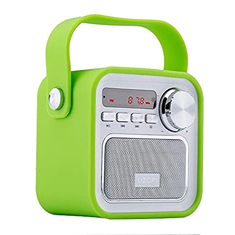Bluetooth Speakers Portable Radio, VOOKI 5W Mini Wireless Outdoor Boombox Speaker with FM Radio, Enhanced Bass, Remote, Built-in Mic, Support TF SD Card, USB Input, AUX Line Input, etc