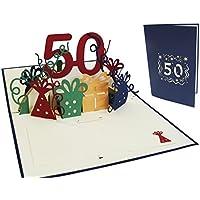 Lin Pop Up de tarjetas de felicitación por 50beeeeestial Día, tarjetas de cumpleaños tarjetas de felicitación Tarjetas de felicitación Cumpleaños
