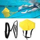 Paracadute da Nuoto per Allenamento Stazionario di Resistenza, Cinture di Nuoto Unisex per Adulto e Bambini