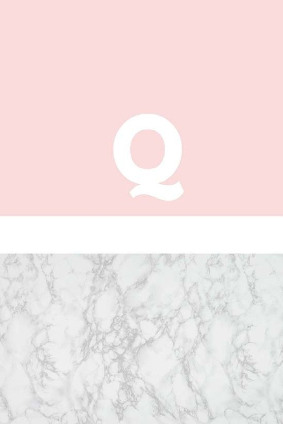 Q: Marble and Pink / Monogram Initial 'Q' Notebook: (6 x 9) Diary, Daily Planner, Lined Journal For