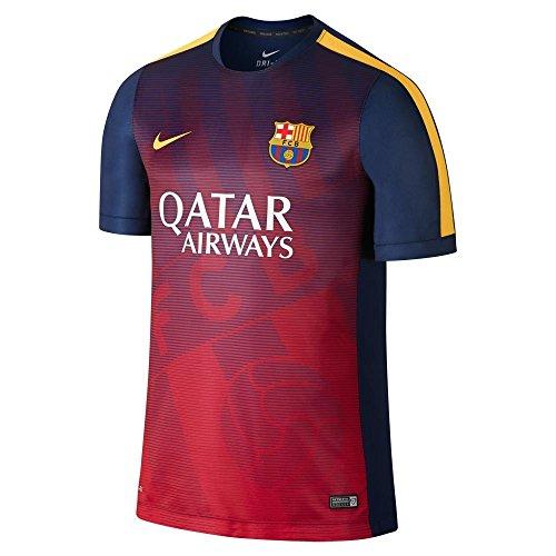 2014-2015 Barcelona Nike Pre-Match Training Jersey (Navy-Purple) - Kids (Barcelona Pre-match)