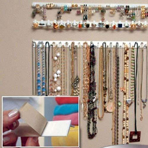 jikaifaquyanhel Schmuck-Wandhalter / -Halter / -Organizer für Halsketten und Armbänder -