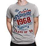 50 Years Of Being AWESOME Hommes 50th T-Shirt Class of 1968 Cadeau d'anniversaire Aged to Perfection par Buzz Shirts