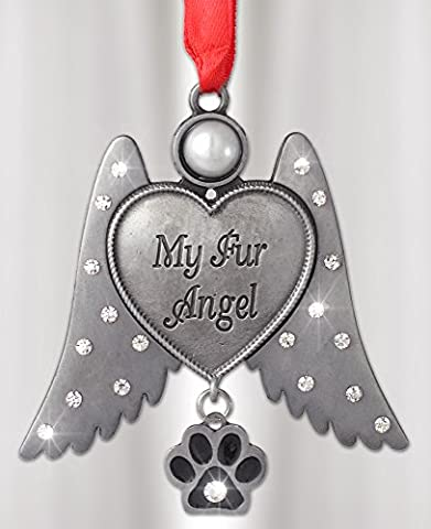 Dog Memorial -- Cat Memorial -- Angel Hanging Ornament with