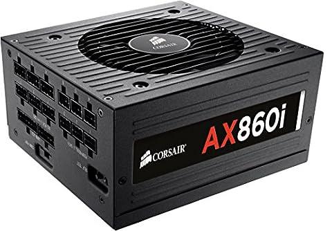 Corsair CP-9020037-EU Professional Series AX860i ATX/EPS Modulaire Complet 80 PLUS Platinum 860W Digital Alimentation PC