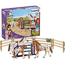 SCHLEICH- Coffret L'entraînement au Concours d'Horse Club Lisa Playset, 42433, Multicolore