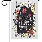 Dozili Flagge Home Sweet Home Welcome Home Dekoration Garten Flagge Wetterfest & doppelseitig Hofflagge, Polyester, bunt, 12.5