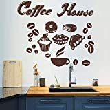 miaoqiushiyi Coffee Dessert Bread Vinyl Sticker For Kitchen Wall Art Decals For Restaurant Removable Wallpaper Murals Home Decor Dining Room
