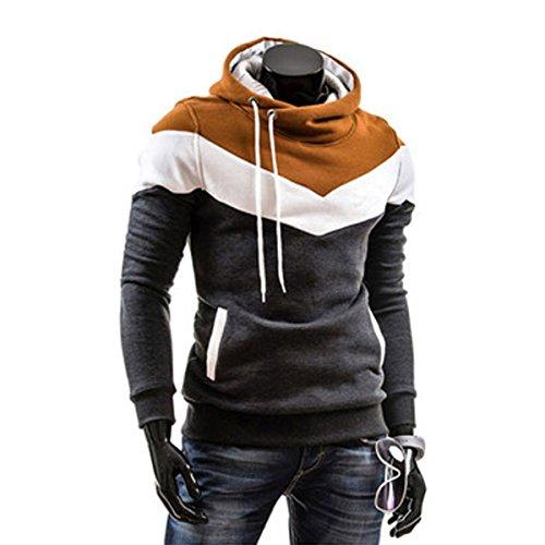 Sichyuan Polychromatische Mode Männlich Hoodie Sport Kapuzenpullover,Gute Qualität Outdoor Sportmann Sweatshirt Pullover Hoodie Men. (Einfach Schlanker Mann Kostüm)