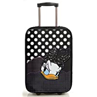 Disney Kids Daisy Set Trolley Suit Case & Beauty Bag Girls Travel Wheeled Cabin Suit Case Cartoon Movie Character Patern Print for Travel Holiday Trip & More