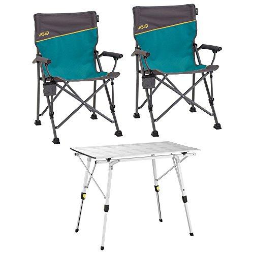 Uquip Bloody, Campingmöbel Set 3-tlg. Campinggarnitur mit Falttisch + 2x Campingstuhl