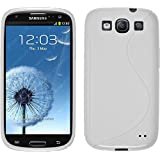 PhoneNatic Case für Samsung Galaxy S3 Neo Hülle Silikon weiß S-Style Cover Galaxy S3 Neo Tasche + 2 Schutzfolien