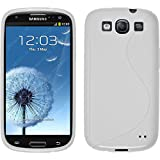 PhoneNatic Coque en Silicone pour Samsung Galaxy S3 Neo - S-Style blanc - Cover Cubierta + films de protection