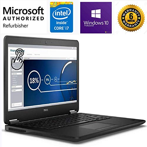 (Renewed) Dell Latitude E7450 14-inch Touchscreen Laptop , Black (12GB RAM, 512GB SSD)