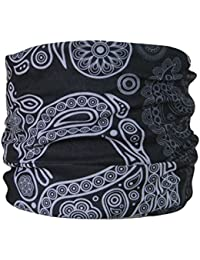 Multifunctional Headwear Black Paisley