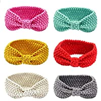 G-Tree Baby Girls Headbands Wool Knitting Fabrics Turban Hairbands for Kids/Chilren/baby (6 Pack), One Size, Multicoloured