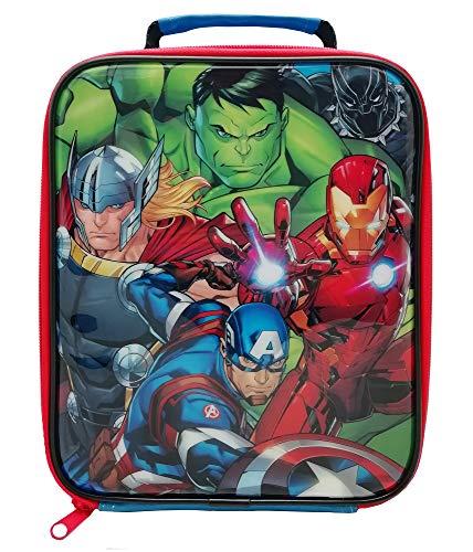 Marvel avengers borsa per il pranzo, in poliestere, multicolore, taglia unica