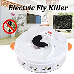 Diadia Autumatic Electric Purple Light Fly Trap USB Recharge Device with Trapping Food+Brush-Non-Toxic and Safe (Orange)