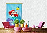Gardine/Vorhang FCS L 7112 Disney, Ariel, 140 x 245 cm, 1-Teilig
