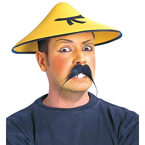 NET TOYS Gelber Chinesenhut Chinese Hut Fasching asiatische Kopfbedeckung Faschingshut Karnevalshut Asia Party Asien Kostüm Zubehör