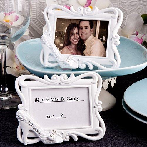 Cinderella Slipper Design Picture Frame Place Card Holder