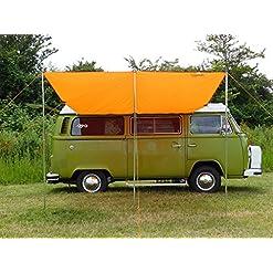 Debus Camper tenda da sole a baldacchino – arancio brillante