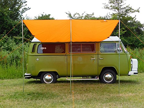 DEBUS Campervan Sun Canopy Awning - Brilliant Orange 2