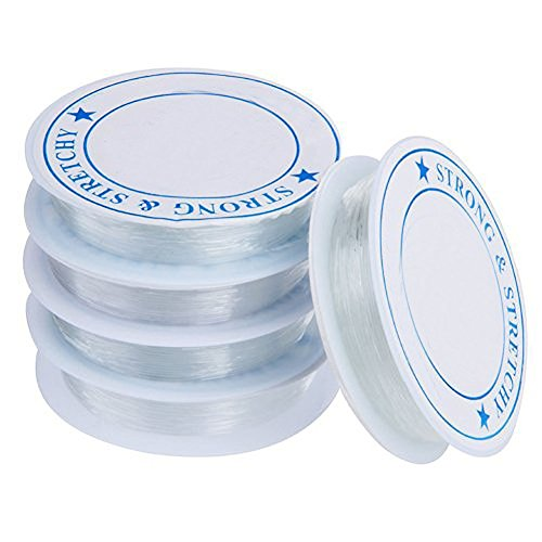 Hosaire 5x Elastische Linie Spule Elastisch Schmuckfaden Gummifaden Faden 0.7 mm Elastic line