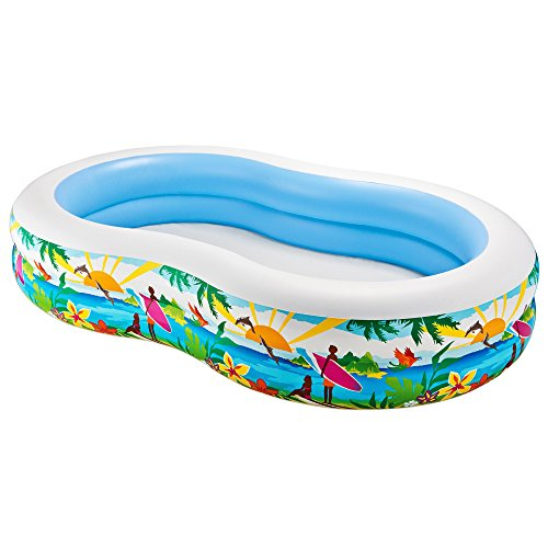 Intex 56490 - Aufblasbarer Pool Swim Center Paradise, 103 x 63 x 18 Zoll