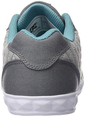 DC Shoes Chelsea Stud, Chaussures Fille, Gris Gris (Grey / Grey / Blue)