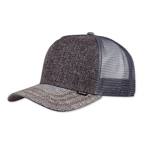 Flex Fit Trucker Cap (Djinns Jute Mix (grey) - Trucker Cap Meshcap Hat Kappe Mütze Caps)