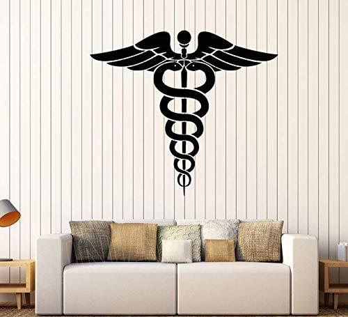 Vinyl Wandtattoo Medizin Apotheke Gesundheitswesen Kunst Decals Antike Griechenland Symbol Aufkleber Dekoration Tapete 42x48cm