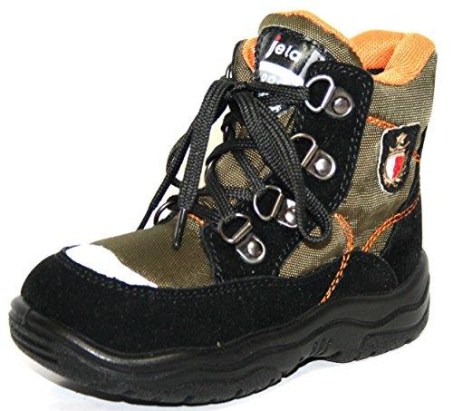 Jela Tex Kinderschuhe 61.123 Jungen Halbstiefel Stiefeletten Schwarz (schwarz/olive 14)