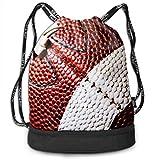 PmseK Turnbeutel Sportbeutel Kordelzug Rucksack, Cool American Football Draw String Bags Shoulder Cinch Storage Bag for Traveling Hiking