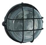 Brennenstuhl Rundleuchte Color / Lampe für Außen - und Innenbereich (spritzwassergeschützte Leuchte zur Decken- und Wandmontage, IP44) Farbe: schwarz