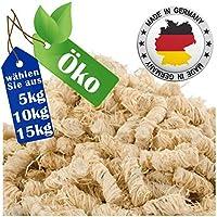 REDPRICE® Kamin-Anzünder Grill-Anzünder Anzündwolle (10KG) 100% ÖKO Holz-Wolle mit Natur-Wachs Brennstoffe Kamin-Ofen Umweltfreundlich Sicher Holzanzünder Feueranzünder