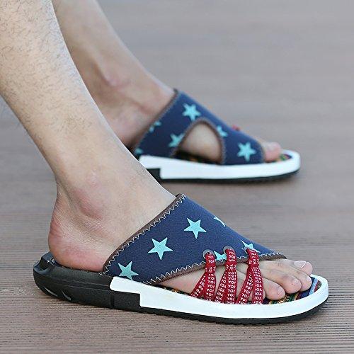 Xing Lin Sandales Pour Hommes La Jeunesse De LÉté Chaussures En Plastique Adhésif Couleurs Mixtes Tongs Sandales Sandales Pentagram