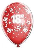 15 bedruckte Luftballons ZAHL 18