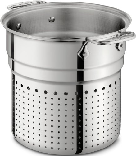 All-Clad 37072-I D Stainless Steel Tri-Ply Dishwasher Safe 7-Quart Pasta Colander Insert / Cookware, Silver by All-Clad -