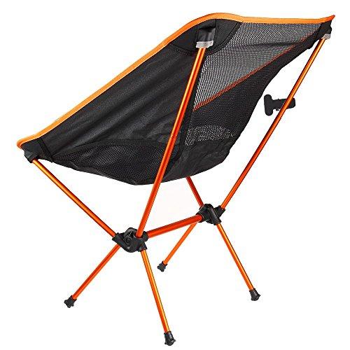 LaDicha Outdoor Silla Plegable Portátil Camping Senderismo Playa Asiento Taburete Para Picnic Barbacoa-Naranja