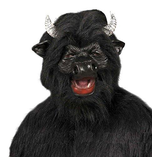 WIDMANN-Stier Maske aus Plüsch, schwarz