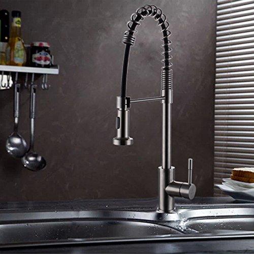 SUS304 Edelstahlfeder Pull Küchenarmatur Wasserwannenhahn Blei Vergleich gesunden Spannungstyp