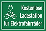 Melis Folienwerkstatt Schild - E-Bike Lade-Station - 30x20cm   Bohrlöcher   3mm Aluverbund – S00050-078-G -20 Varianten