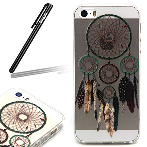 Coque Housse pour iPhone 6, iPhone 6 Silicone Coque Souple Gel Etui, iPhone 6s Transparent Clear Coque Housse, iPhone 6 Portefueille protective Coque, iPhone 6 Soft Silicone Case Slim Cover, Ukayfe Uk Campanula Plume