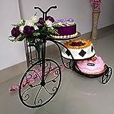 Black 3-tier wedding cake rack/ Decorative Birthday Metal Cake Stand/ Continental Iron Bicycle cake stand holder for wedding, birthday display tools