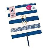Busy B Familienterminkalender 2019 für bis zu 5 Personen - mit 12 Steckfächern (1 pro Monat), Stickern und einer Bandschlaufe - Streifendesign