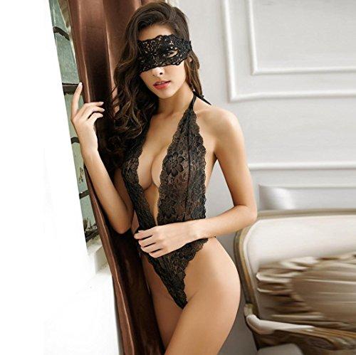 Sunnywill Charmante Schöne Unterwäsche Dessous Brust für Damen Schwarz