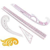 Itian Marca DIY ropa medición francés Curva Patrón clasificación reglas patrón estilo diseño Craft Costura Herramienta Set, de Coser Costura Manualidad(5pcs)