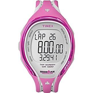 Timex T5K591 T5K591DH – Reloj para mujeres, correa de resina color rosa
