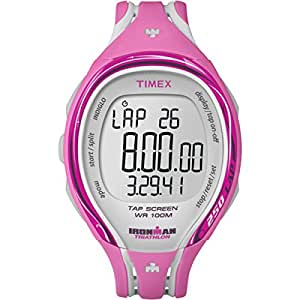 Timex Women's Quartz Watch with LCD Dial Digital Display and Pink Resin Strap T5K591SU